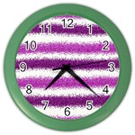 Pink Christmas Background Color Wall Clocks Front