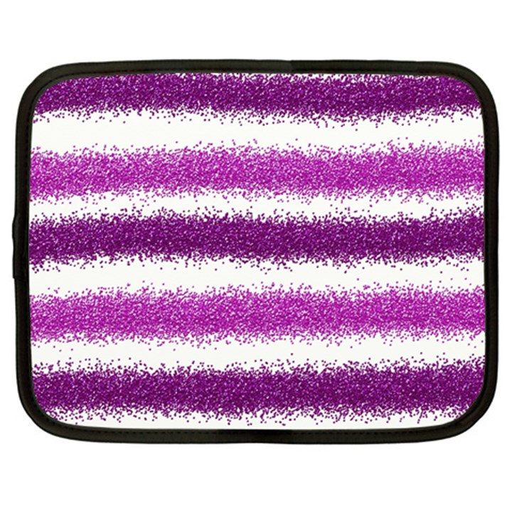 Pink Christmas Background Netbook Case (Large)