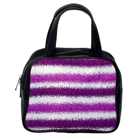 Pink Christmas Background Classic Handbags (One Side)