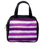Pink Christmas Background Classic Handbags (One Side) Front