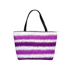 Pink Christmas Background Shoulder Handbags
