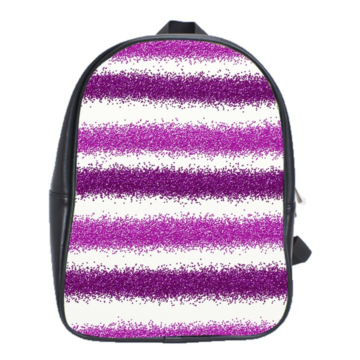 Pink Christmas Background School Bags(Large)