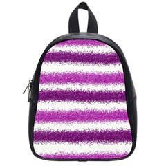 Pink Christmas Background School Bags (Small)