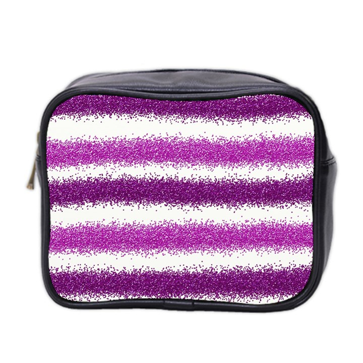 Pink Christmas Background Mini Toiletries Bag 2-Side