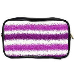 Pink Christmas Background Toiletries Bags