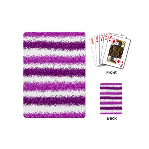 Pink Christmas Background Playing Cards (Mini)
