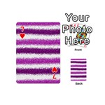 Pink Christmas Background Playing Cards 54 (Mini)  Front - Heart7