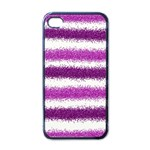 Pink Christmas Background Apple iPhone 4 Case (Black) Front