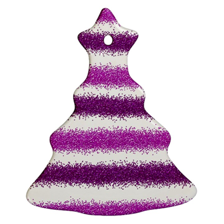 Pink Christmas Background Christmas Tree Ornament (2 Sides)