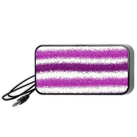 Pink Christmas Background Portable Speaker (Black)
