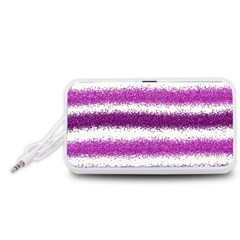 Pink Christmas Background Portable Speaker (White)