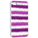 Pink Christmas Background Apple iPhone 4/4s Seamless Case (White) Front