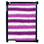 Pink Christmas Background Apple iPad 2 Case (Black) Front