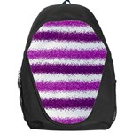Pink Christmas Background Backpack Bag Front