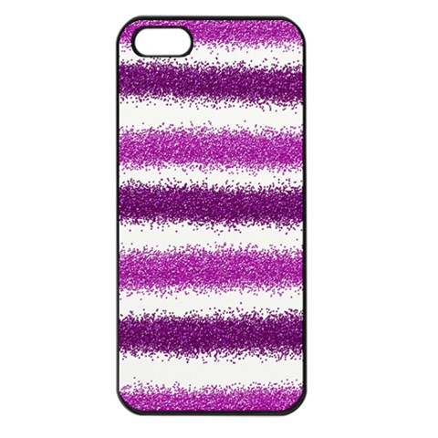 Pink Christmas Background Apple iPhone 5 Seamless Case (Black)