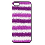 Pink Christmas Background Apple iPhone 5 Seamless Case (Black) Front