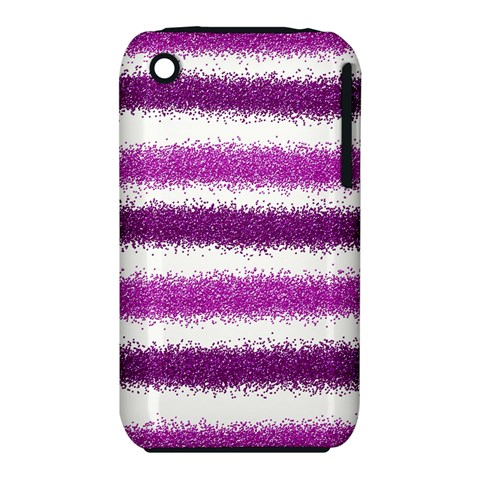 Pink Christmas Background Apple iPhone 3G/3GS Hardshell Case (PC+Silicone)