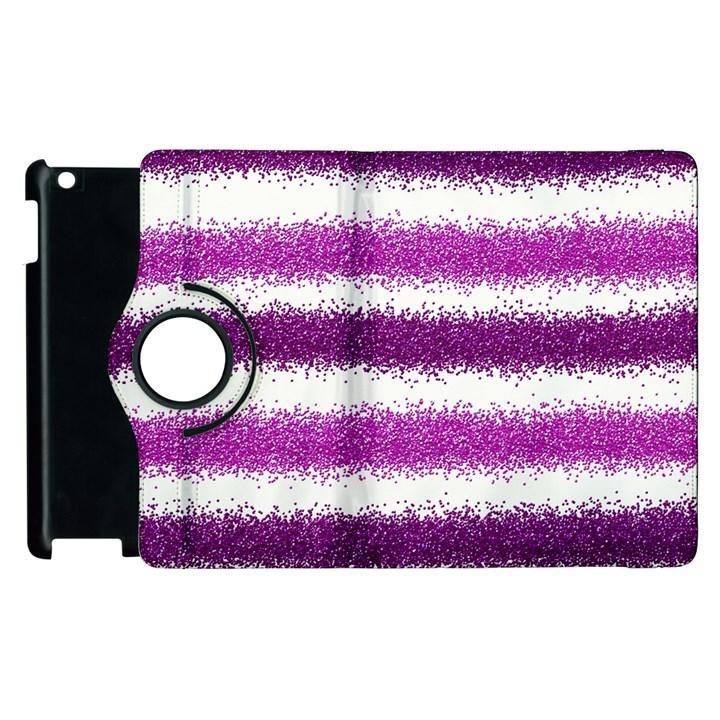 Pink Christmas Background Apple iPad 2 Flip 360 Case