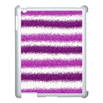 Pink Christmas Background Apple iPad 3/4 Case (White) Front