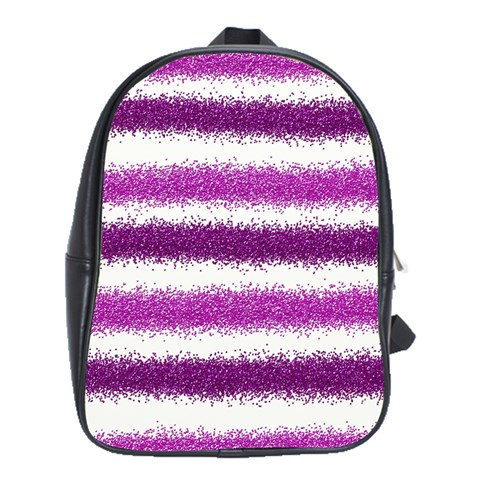 Pink Christmas Background School Bags (XL)