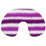 Pink Christmas Background Travel Neck Pillows Back