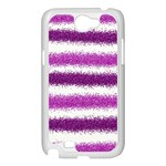 Pink Christmas Background Samsung Galaxy Note 2 Case (White) Front