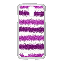 Pink Christmas Background Samsung GALAXY S4 I9500/ I9505 Case (White)