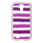 Pink Christmas Background Samsung GALAXY S4 I9500/ I9505 Case (White) Front