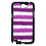 Pink Christmas Background Samsung Galaxy Note 2 Case (Black) Front