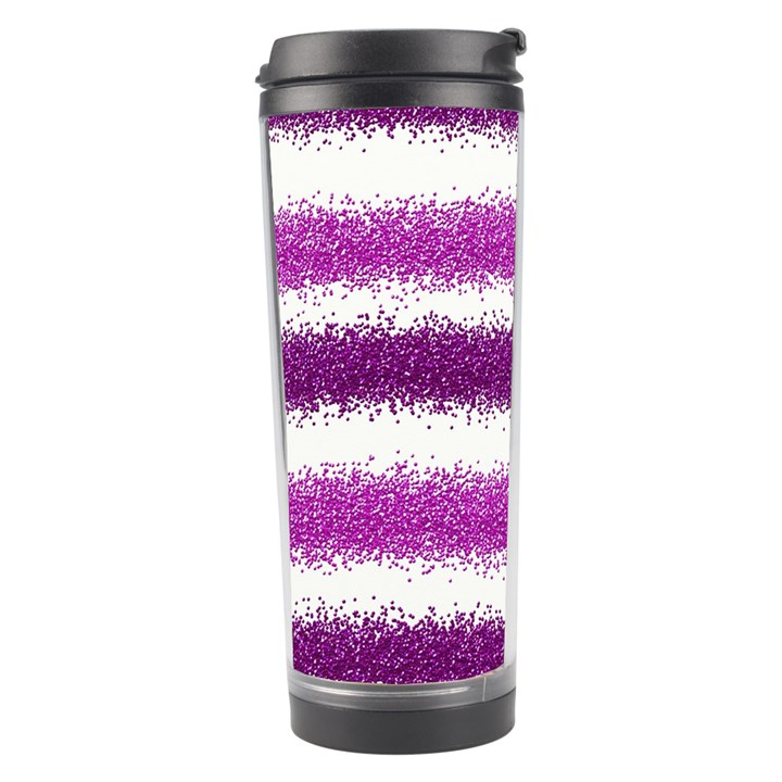 Pink Christmas Background Travel Tumbler