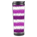 Pink Christmas Background Travel Tumbler Right