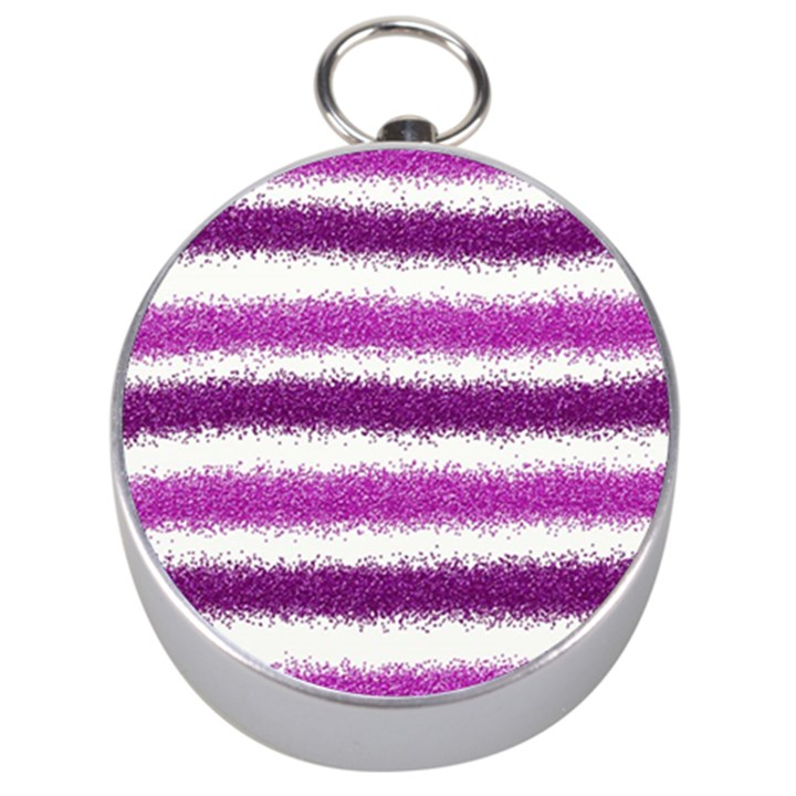 Pink Christmas Background Silver Compasses
