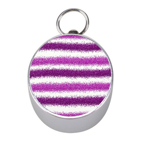 Pink Christmas Background Mini Silver Compasses