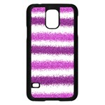 Pink Christmas Background Samsung Galaxy S5 Case (Black) Front
