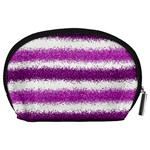 Pink Christmas Background Accessory Pouches (Large)  Back