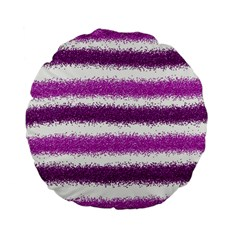 Pink Christmas Background Standard 15  Premium Flano Round Cushions