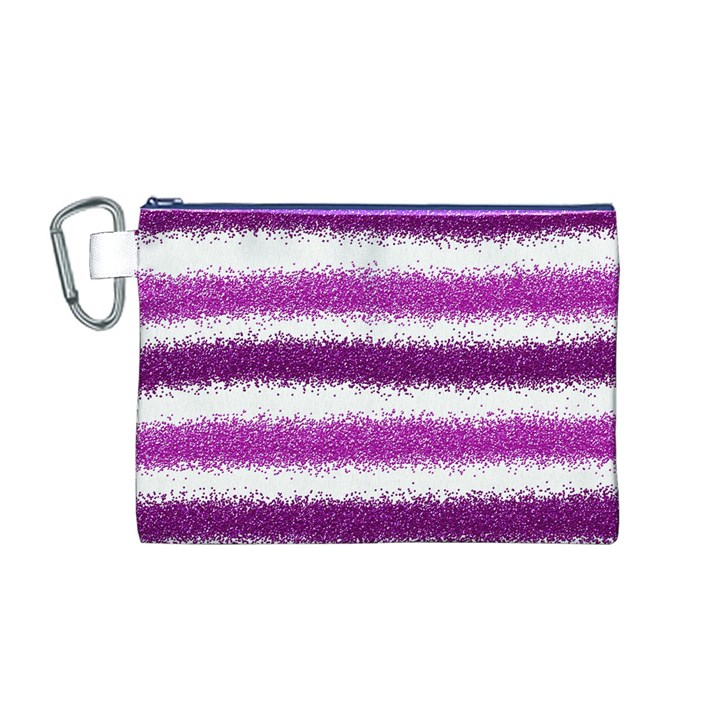 Pink Christmas Background Canvas Cosmetic Bag (M)