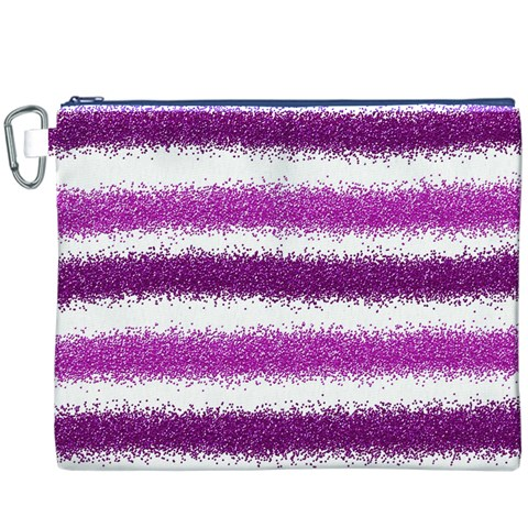 Pink Christmas Background Canvas Cosmetic Bag (XXXL)