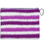 Pink Christmas Background Canvas Cosmetic Bag (XXXL) Back