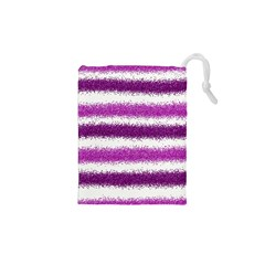 Pink Christmas Background Drawstring Pouches (XS)