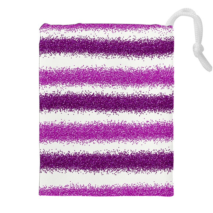 Pink Christmas Background Drawstring Pouches (XXL)
