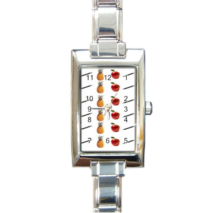 Ppap Pen Pineapple Apple Pen Rectangle Italian Charm Watch