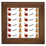 Ppap Pen Pineapple Apple Pen Framed Tiles Front