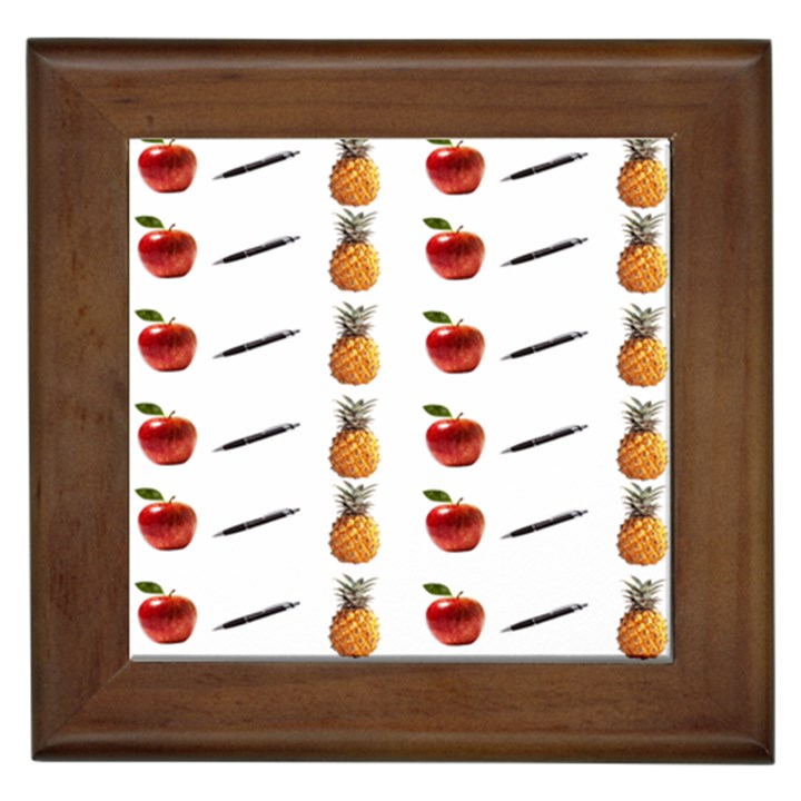 Ppap Pen Pineapple Apple Pen Framed Tiles