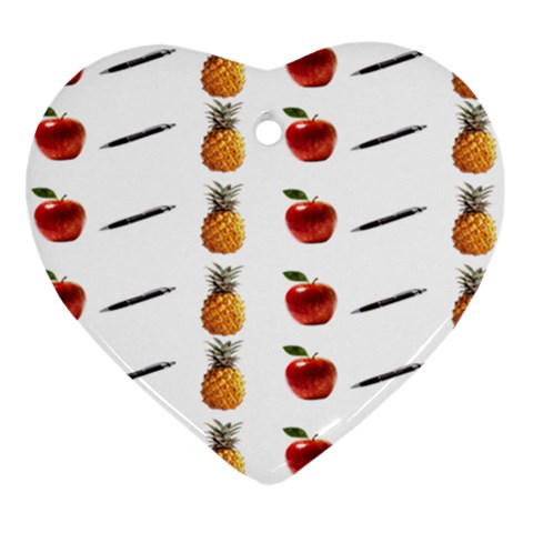 Ppap Pen Pineapple Apple Pen Ornament (Heart)