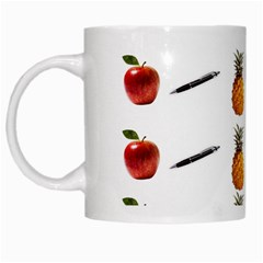 Ppap Pen Pineapple Apple Pen White Mugs