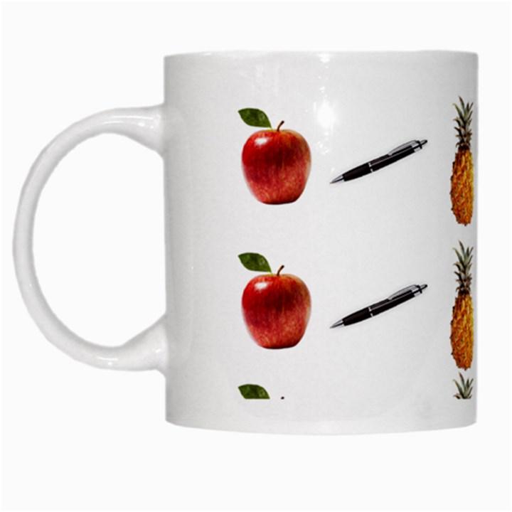 Ppap Pen Pineapple Apple Pen White Mugs