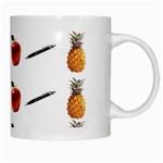 Ppap Pen Pineapple Apple Pen White Mugs Right