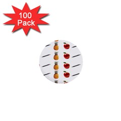 Ppap Pen Pineapple Apple Pen 1  Mini Buttons (100 pack)