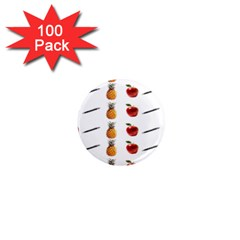Ppap Pen Pineapple Apple Pen 1  Mini Magnets (100 pack)